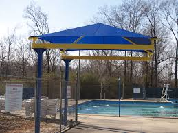 outdoor u0026 landscaping exciting blue sloping canopy roofing as