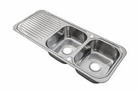 Stainless Steel Inset Kitchen Sink Double Bowl With Drainer - Kitchen sink double bowl double drainer