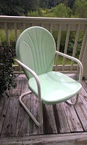 Retro Patio Chair Metal Patio Rocking Chairs White Metal Rocking Chair Retro Outdoor
