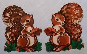 vintage dennison squirrel die cuts found at an estate sale u2026 flickr