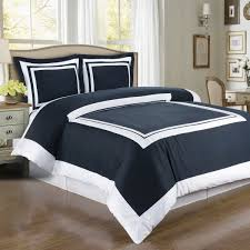 com modern duvet cover twin twin xl single size navy blue white border design pattern 100 egyptian cotton bedding and shams pillowcase set home