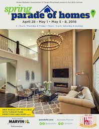 2016 spring parade of homes magazine by home builders association
