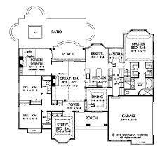 open floor plans for single story country style house 2445 sq ft