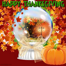 thanksgiving snow globe template postermywall