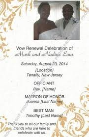 wedding vow renewal ceremony program 8 best vow renewal invitations images on happy wedding