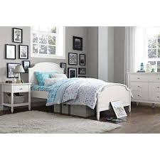 white bed frames u0026 box springs bedroom furniture the home depot