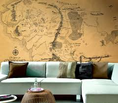 Photo Mural Wallpaper by Wall Map Of Lord Of The Rings Large Wallpaper Wall Mural