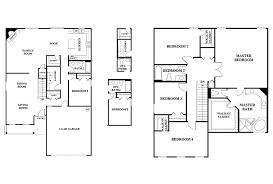 5 bedroom floor plans 2 story house plan 4 bedroom plans 3 modern garage guest detached on top