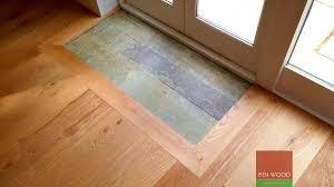 integrated doormat in wood flooring doormat well fin wood ltd
