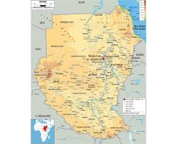 Physical Map Of Southwest Asia by Maps Of Sudan Detailed Map Of Sudan In English Tourist Map