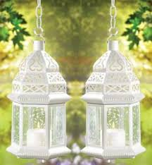 ebluejay weddings 10 white moroccan lantern centerpieces
