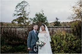 scottish winter wedding at castle fraser aberdeenshire natural