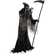 lunging reaper animated prop halloween decoration walmart com