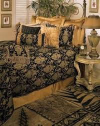 California King Black Comforter 6pc Magnificent Asian Art Black Gold Comforter Set Queen King Cal