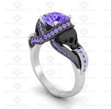 amethyst diamond engagement ring sapphire studios all white diamond skull sterling silver ring set