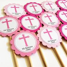 personalized cupcake toppers cross cupcake toppers for baptism or communion personalized