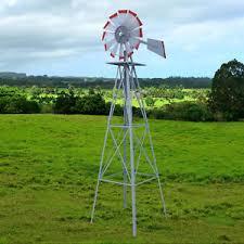 ornamental windmill tower fan blades wind speed heavy steel garden
