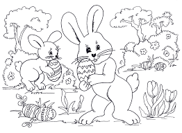 easter bunny coloring pages inspiration graphic free coloring