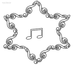 musical note coloring pages az coloring pages in music note