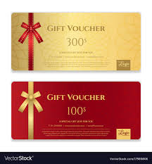 discount gift card gift voucher certificate or discount card vector image