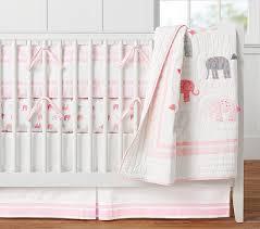 Elephant Crib Bedding For Boys Elephant Baby Bedding Pottery Barn