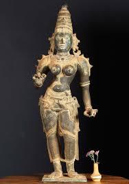 God Statue Antique Bronze Parvati As Shivakami Statue 30