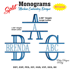 initial fonts for monogram split monograms machine embroidery designs monograms fonts bx
