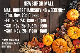 events at newburgh mall thanksgiving weekend hours nov 22 2017