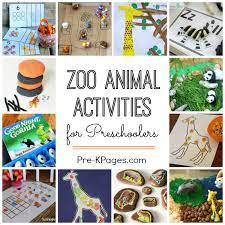 zoo activities for preschoolers pre k pages