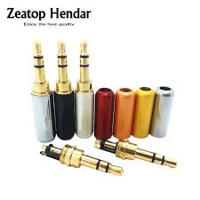 aliexpress buy hot gold plated 5mm 3 5mm tungsten 10pcs 3 5 mm rca audio 3 pole gold plated earphone