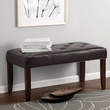 bench tufted leather bench nailhead tufted leather bench modern