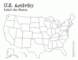 United States Map Activity by Coloring Page United States Map Kids Coloring