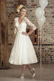 tea dresses wedding 50s style wedding dress with sleeves f a s h i o n