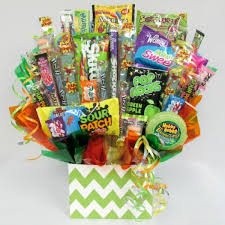 candy basket delivery sour candy bouquet by candy blast chocolate org