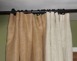 Brown Burlap Curtains Lined Burlap Curtain Etsy