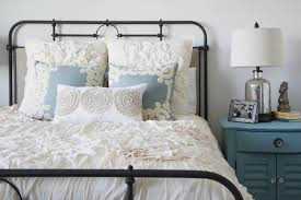 iron bed frame white bed cover for guest bedroom ideas have