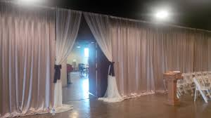 Ceiling Draping For Weddings Diy Satin Drapes Hide Black Walls At Hoffman U0027s For A Wedding Ceremony