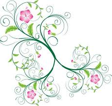 green vector flower ornament vector vector
