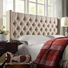 interior diy tufted headboard with nailhead trims