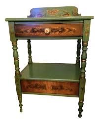 hitchcock harvest stenciled end table or nightstand chairish