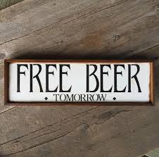 Home Decor Wall Signs by Free Beer Sign Wall Sign Funny Signs Bar Sign Bar Decor