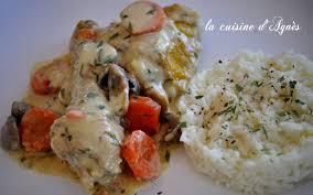 cuisiner le poulet blanquette de poulet à l estragon de oliver la cuisine d