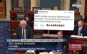 Tweet Meme - bernie sanders giant printed trump tweet has yielded many many