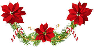 poinsettias garland clip png image gallery