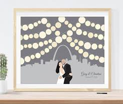 unique wedding guest books louis wedding guest book alternative with skyline and paper