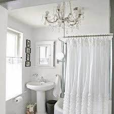 Ruffled Shower Curtain Ruffle Shower Curtain Cottage Bathroom The Lettered Cottage
