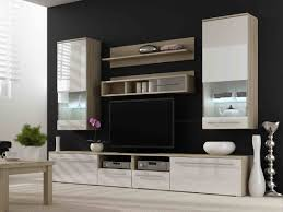 Bedroom Lcd Wall Unit Designs Living Room Charming Dark Brown Modern Plywood Living Room Wall