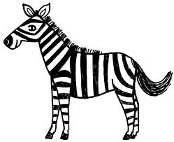 cartoon zebra coloring pages printable zebra coloring pages