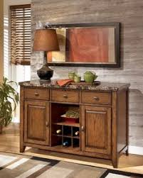 Decorating Dining Room Buffets And Sideboards Server Sideboard With Marble Top And Wine Rack In Espresso Finish
