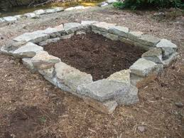 Rock Garden Beds Garden River Rock Raised Beds How To Build Bed Custom